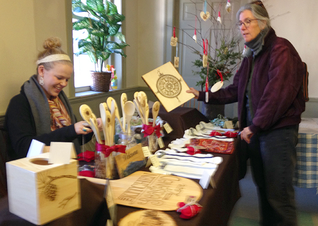 Christmas shopping at the Local Living Craft Fair