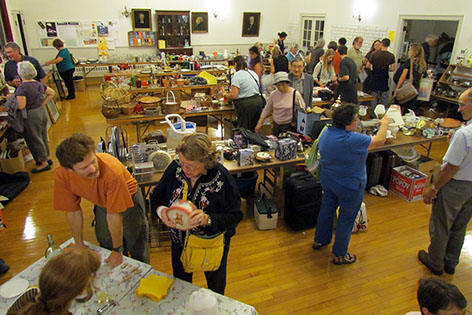 Friday night opening preview of Rummage Sale<br> with wine and hors d'oeuvres.